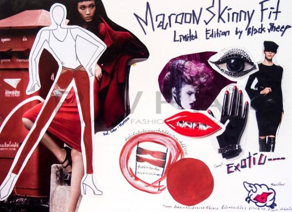 Maroon Skinny Fit